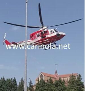 elicottero che atterra qualche ora fa