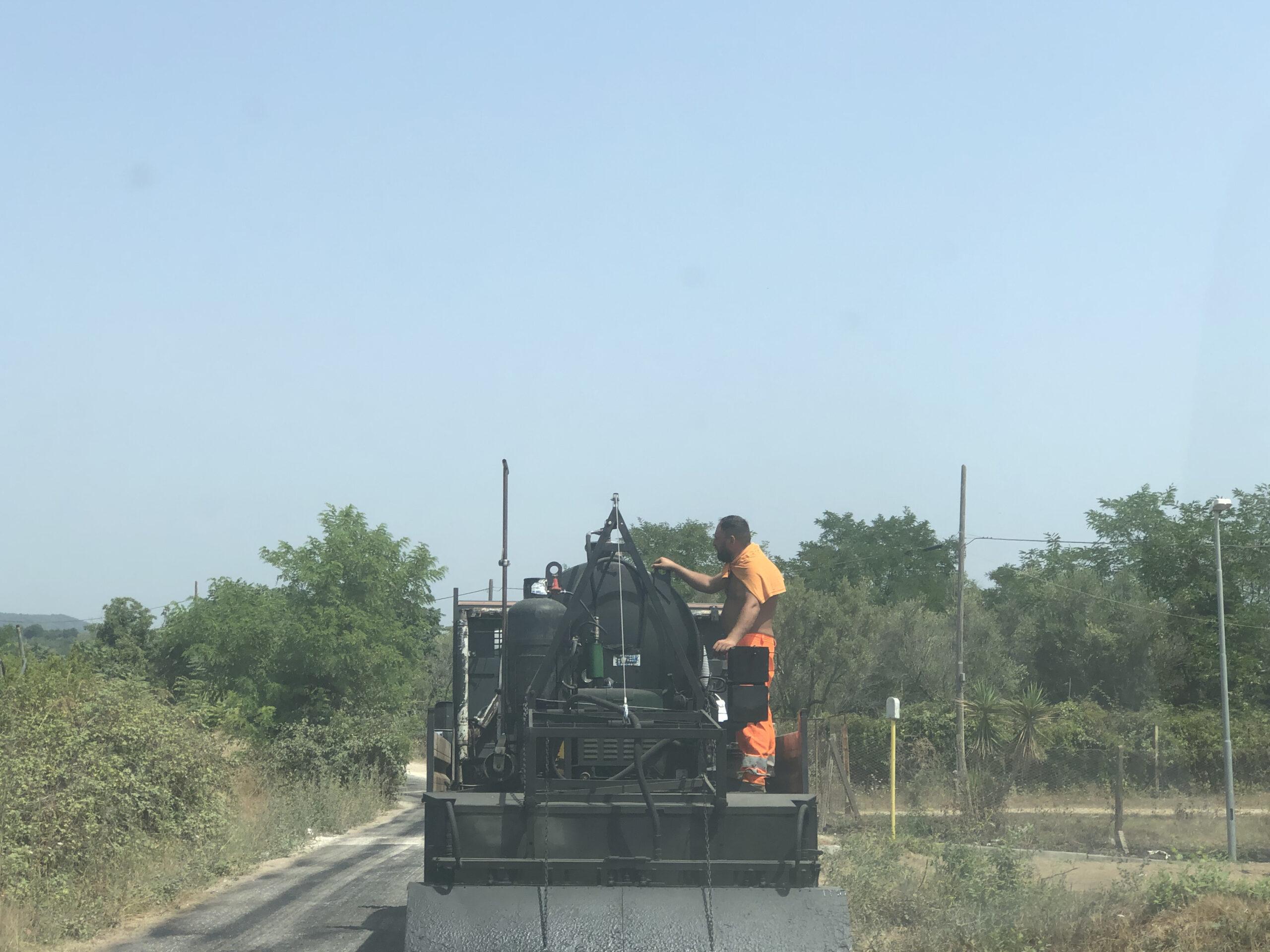 asfalto a via Guarusi OGGI