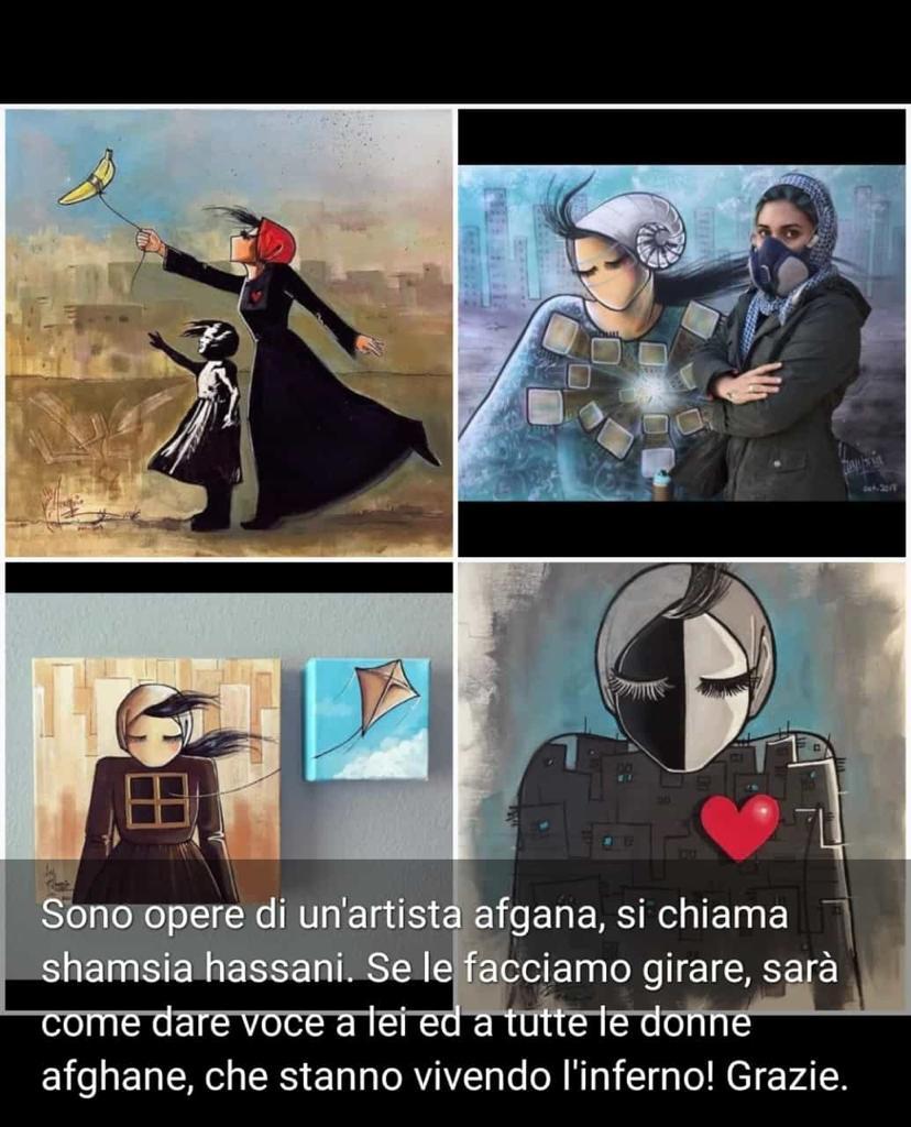 Opere artista afghana diamole voce